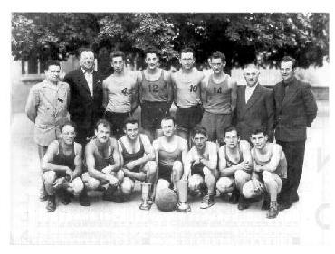 L'historique du basket  à Quincié-en-Beaujolais 1955