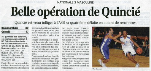 Article du Progrès du lundi 17 octobre 2005