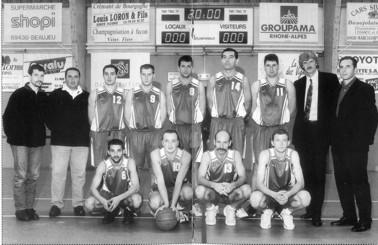 L'historique du basket  à Quincié-en-Beaujolais SM1-9900bis